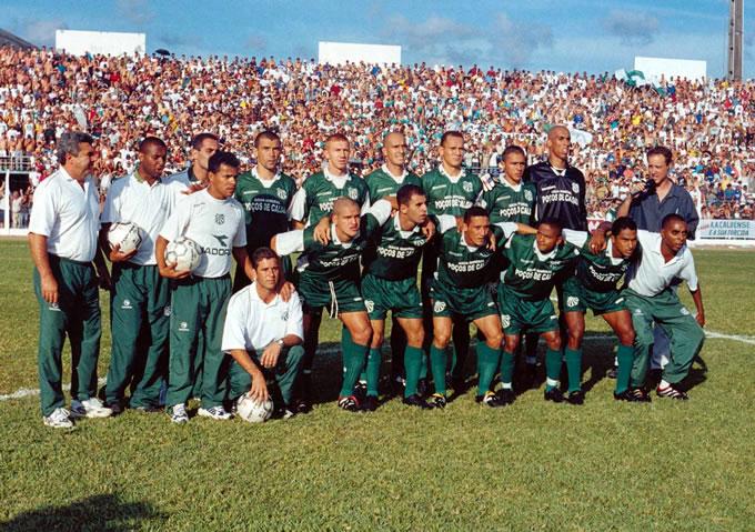 Equipe Campeã Mineira de Futebol em 2002.