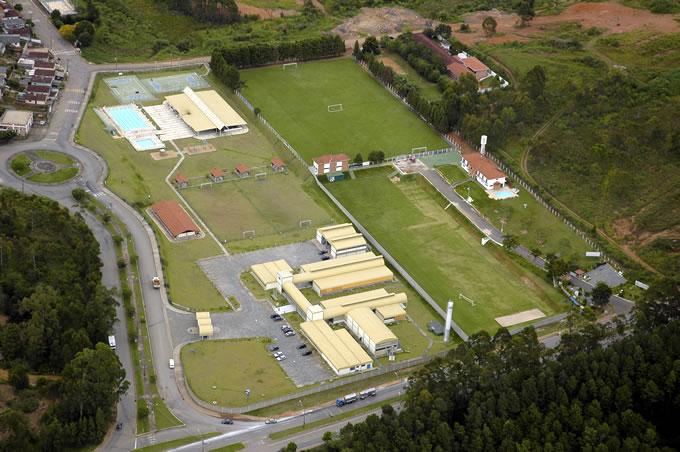 Vista aérea do Centro de Treinamentos Ninho dos Periquitos.