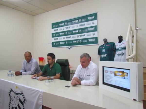 O vice-presidente da Caldense Franco Martins foi o porta-voz da cerimônia de lançamento ao lado do prefeito Eloísio Lourenço e do consultor da Data Click, Marcos Souza