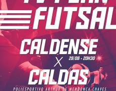 Caldense disputa segunda rodada da Copa TV Plan de Futsal