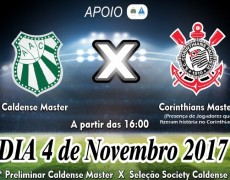 Ingressos para amistoso master entre Caldense e Corinthians já estão à venda