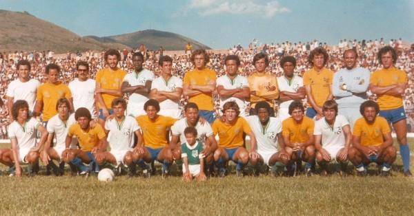 Caldense x Seleção Brasileira em 12 de março de 1981