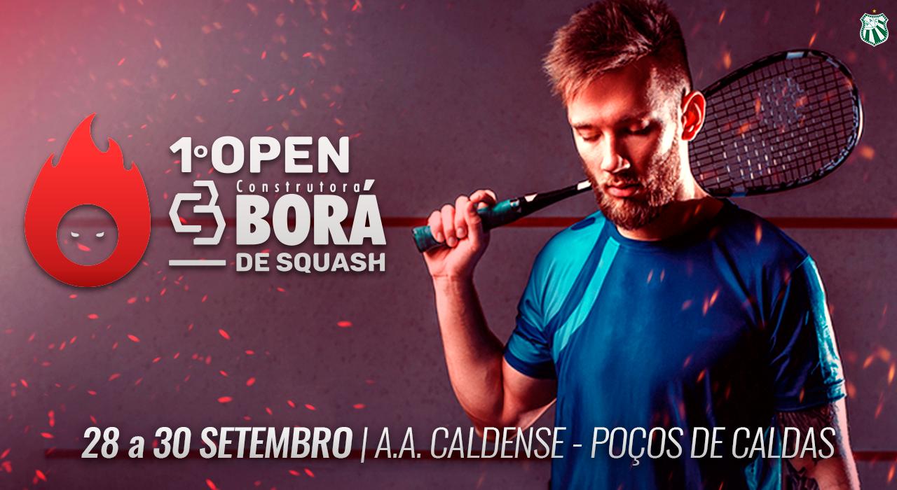 Estão abertas as inscrições para o 1º Open Construtora Borá de Squash da Caldense