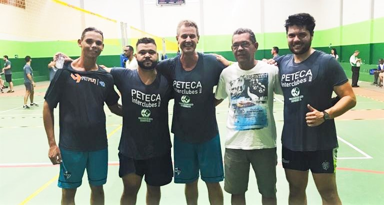 Celso e Frederico ficam em 3º lugar em Torneio Interclubes de Peteca