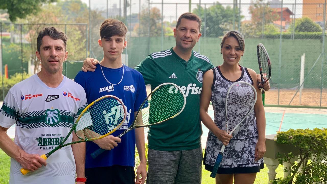 Atletas da Caldense se destacam em etapa do Circuito Regional de Squash em Indaiatuba-SP