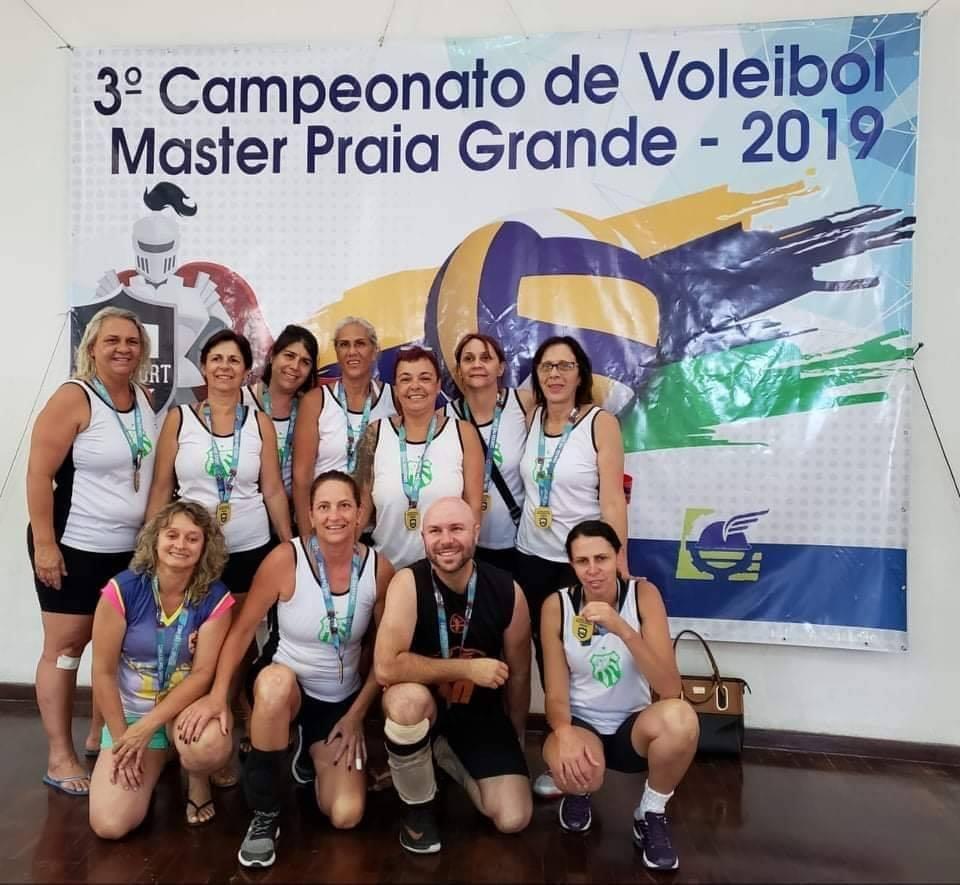 Vôlei Master feminino da Caldense conquista 4º lugar no campeonato de Praia Grande-SP