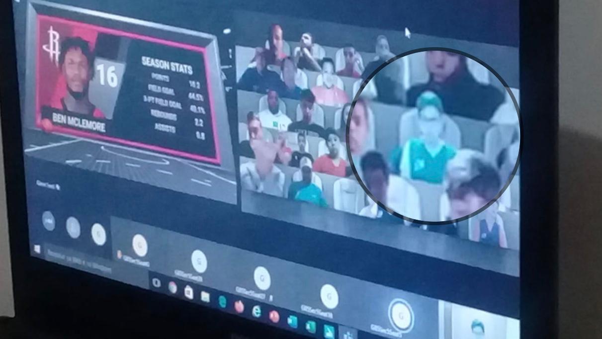 Representantes da Caldense assistem jogo da NBA em arquibancada virtual