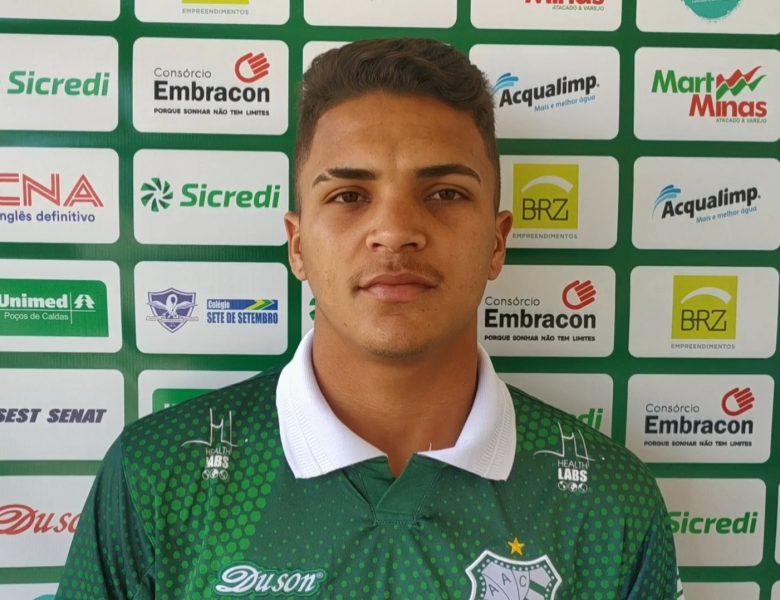 Caldense apresenta mais um reforço, o lateral-direito João Vitor