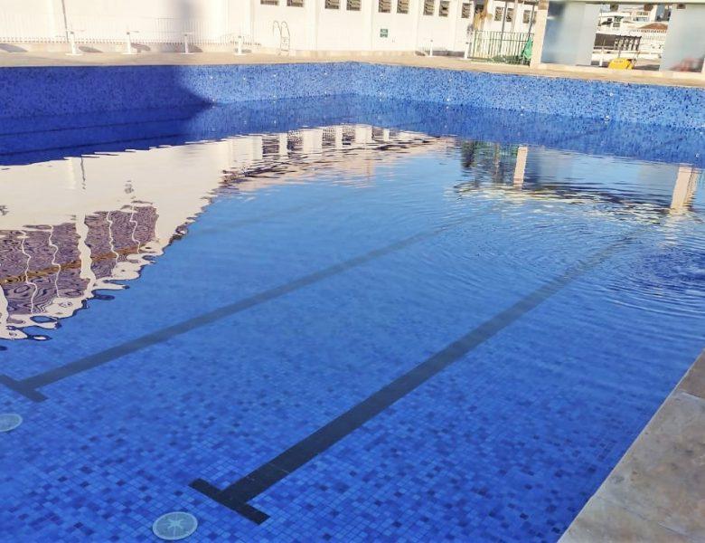 Manutenção finalizada na piscina grande: veja o antes e depois