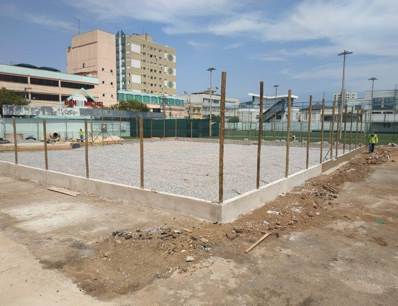 Quadras de Beach Tennis da Caldense: acompanhe a evolução da obra