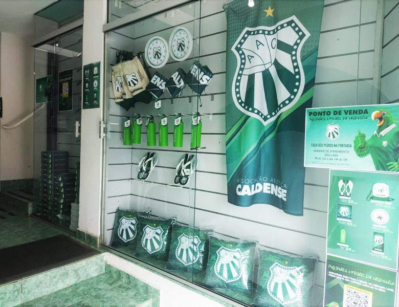 Caldense instala ponto de venda dos produtos oficiais licenciados na sede social do clube